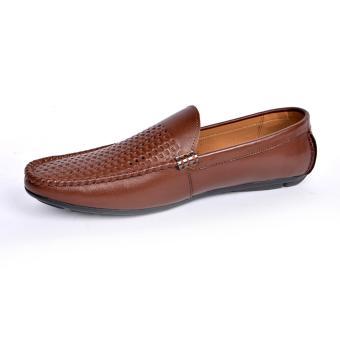 Giày Lười Hè Da Bò Cao Cấp LG160.