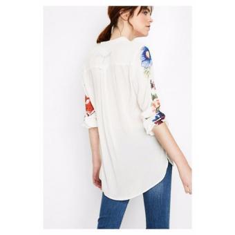 Áo Sơ Mi Nữ Họa Tiết Chim Desigual Shirt Grecia 72C2WC81000