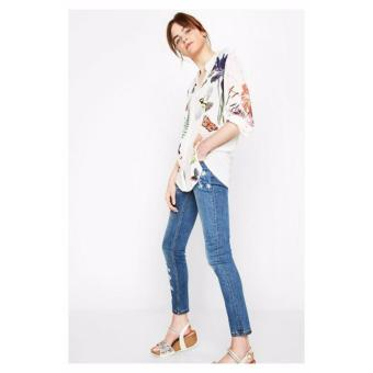Mua Áo Sơ Mi Nữ Họa Tiết Chim Desigual Shirt Grecia 72C2WC81000 giá tốt nhất