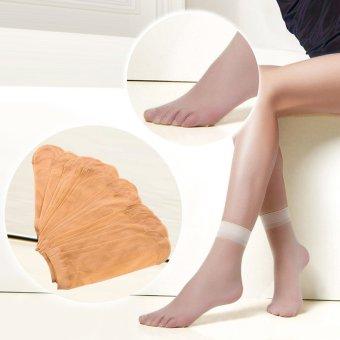 Bộ 10 đôi vớ mỏng da chân sáng cho bạn gái Giá Tốt 247
