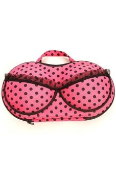 LALANG Portable Travel Protect Bra Underwear Lingerie Case Organizer Holder Bag - Rose Red