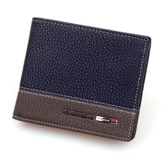Mens Leather Bifold Money Card Holder Wallet Coin Purse Clutch Pockets Free Shipping - intl