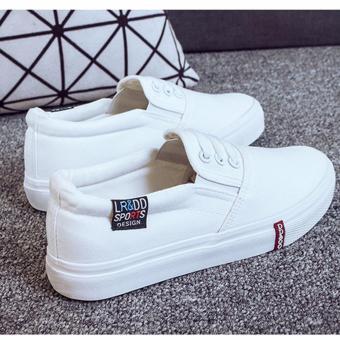 Giày slip on 3 dây màu trắng
