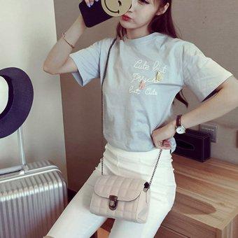 Fashion Women Crossbody Shoulder Bag(Beige) - intl