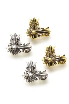 HKS Womens Cross Brooches Vintage Punk Silver - intl