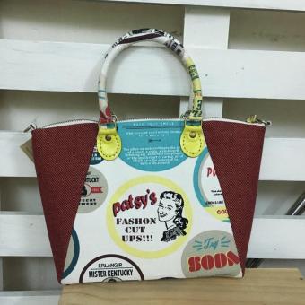 Hand Bag Họa Tiết Logo Nhãn Hàng Trum Bo Handmade MHB21 - Medi