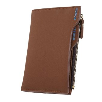 niceEshop Leather Mens Bifold Wallets With Slim Minimalist Card Pocket Coffee - intl