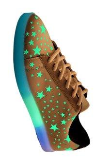 Moonar Sports Fluorescent Sneaker (Golden) - intl