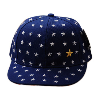 Embroidered Star Cap Blue