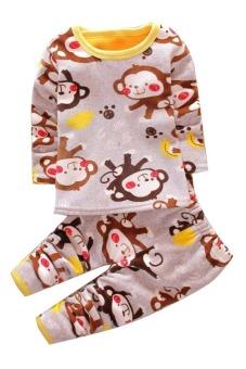 Bộ đồ lót lông cho bé TED12 Family Shop (Họa tiết)