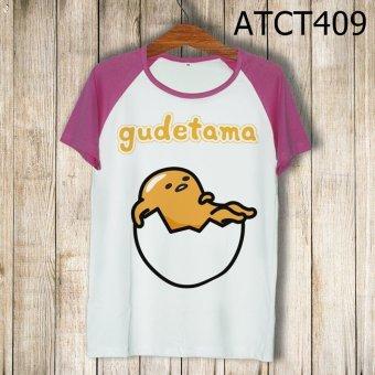 Áo Thun Trứng Lười Gudetama Nằm Trong Vỏ - MITADI - ATCT409 (Hồng)