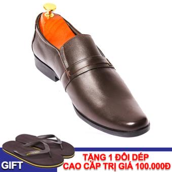 Giày tây nam da thật VNLMO9A407N (Nâu)