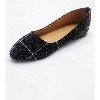 Giày búp bê sọc ô vuông 92290s