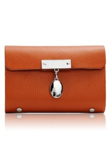 Moonar Leather Pocket Bag Orange - intl