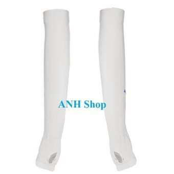 Găng tay chống nắng và tia UV_Aqua X dạng xỏ ngón ( TRẮNG )