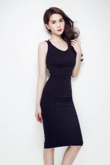 Đầm ôm Ngọc Trinh Dây Chéo lót Ngực TAMN147 (Đen)