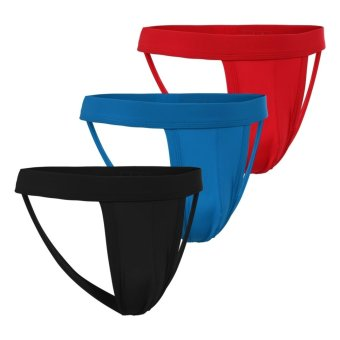 Cyber Avidlove Men's Hollow Out Strap Thongs 3-Pack Briefs - Intl
