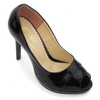 Giày cao gót 10 phân Om Fashion 915 (Đen)