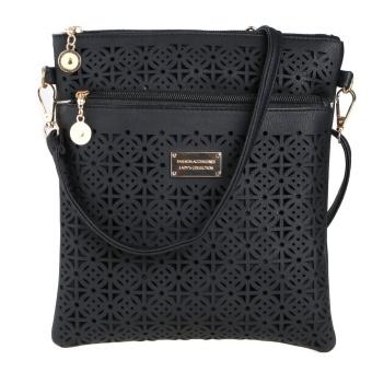 Leisure Hollow Out Women Wallet Shoulder Crossbody Bag (Black) - intl
