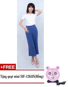 Quần ống rộng (jumpsuit) thời trang ZASKIN ZA04Q1 + Tặng quạt mini shinil SIF-120JJS (Hồng)