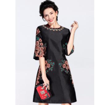 Đầm Dáng Suông Nữ Thời Trang Naza A680003