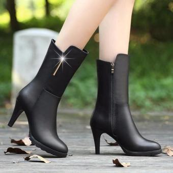 Giày boot phong cách Hàn Quốc B029 (Đen)