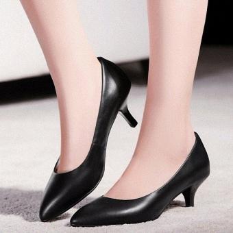 Giày cao gót bít mũi cao cấp CG301 (Đen)