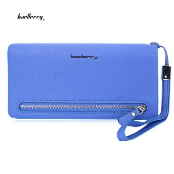 Baellerry Wrist Wallet Phone Pocket(Blue) - intl