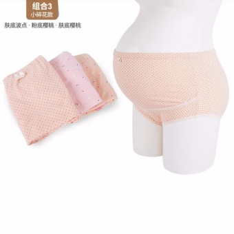 3Pcs Pack Maternity Underwear Panty Brief for Pregnant Women Pure Cotton High Waist Belly Support Pregnancy Clothing Bottom Pants(Color Random) - intl