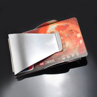 Slim Double Sided Money Clip Credit Card Holder Wallet - INTL