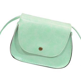 Hot Retro Women Messenger Bags Chain Shoulder Bag Leather Crossbody Green