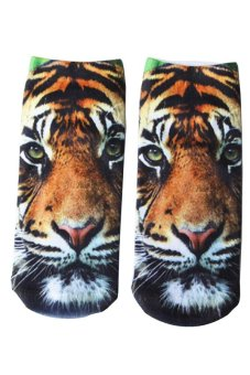 Bluelans Unisex Fashion 3D Tiger Printed Patterns Anklet Socks Hosiery 1 Pair (Intl)