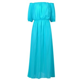 Women Summer Beach Bohemian Long Dress (Blue) - intl