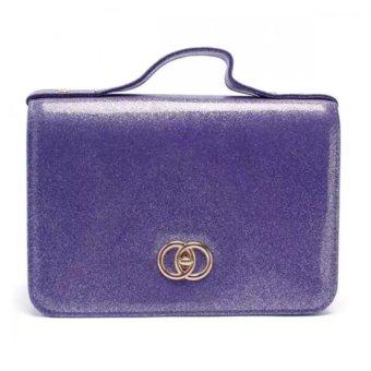 Túi hộp đeo chéo kim tuyến MS137 (Tím)