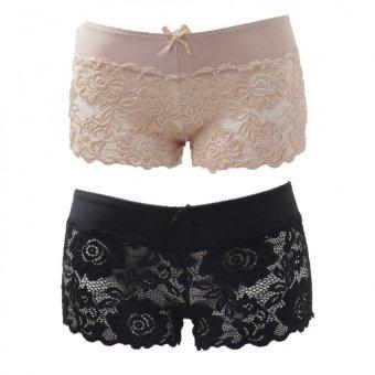 Bộ 2 quần lót đùi ren nữ mặc váy Salome fashion