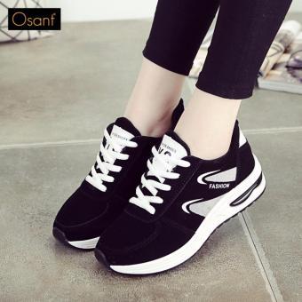 Giày Sneaker Nữ Thời Trang OSANT SN009 (ĐEN PHỐI HỒNG)