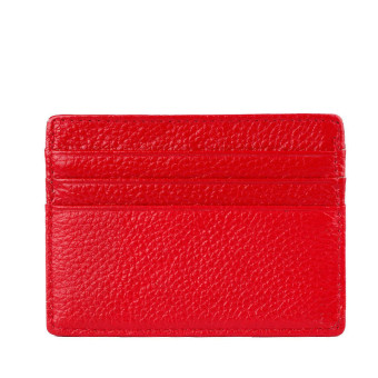 Mini Neutral Leather Wallet Red