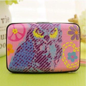 Moonar 14 Slots Cartoon Owl Pattern Credit Business ID Card Holder Case Box (3#) - intl