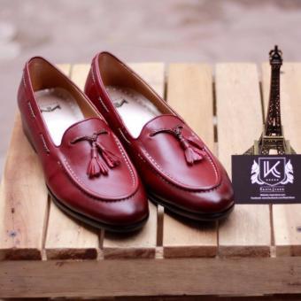 Giày loafer nam cao cấp Kazin màu nâu đỏ - KZND024