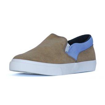Giày Lười Slip-on QuickFree Lightly da bò Suede Nam M160202-000 (Xám/Tím Nhạt)