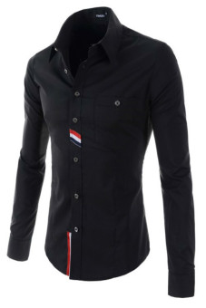 Reverieuomo CS40 Single-Breasted Shirt (Black) - Intl