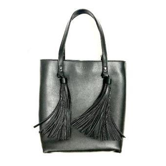 Túi xách nữ thời trang họa tiết tua rua (Đen)