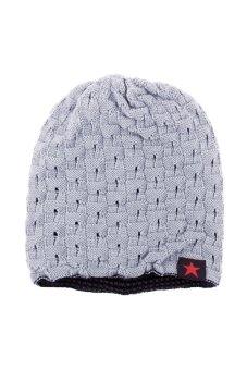 HKS Popular Fashion Unisex Knit Baggy Beanie Beret Hat Winter Warm Oversized Ski Cap Light Grey - Intl - intl