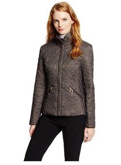 Áo khoác nữ cao cấp T Tahari Women's Sydney Paisley Quilted Jacket (Xám)