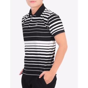 Áo thun nam cao cấp sọc cổ bẻ pious ps01 ( sọc trắng đen)