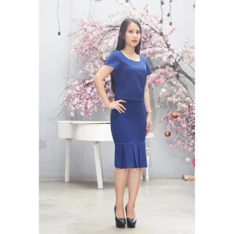 Đầm công sở Cocoxi màu xanh 18BD04X