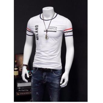 Áo thun nam thời trang cổ tròn nam tính MLN01 ( Trắng )