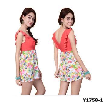 Bộ liền váy Yingfa Y1758-1 (đỏ)