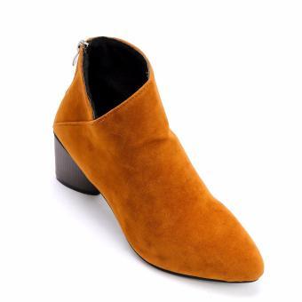 Giày Bốt Gót Vuông MZB09.1