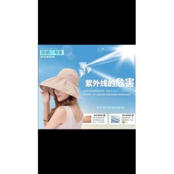 Mũ(nón)chống nắng gấp gọn tiện dụng( Mầu be)-0303